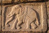 HAMPI, INDIA - FEBRUARY 4: Carved statues in the Hindu temple in Hampi, Karnataka on February 4, 201