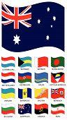 Vector bandera colección