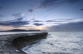 Sunrise At The Cobb In Lyme Regis