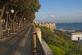 Coast of Ionian sea in Taranto