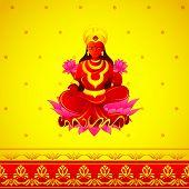 Godess Lakshmi in Diwali