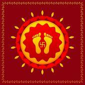 Footprints of Goddess Lakshami on Diwali