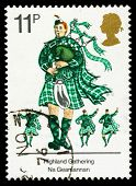 Britain Morris Dancing Postage Stamp