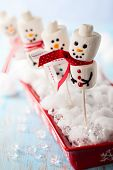 Marshmallow Snowmen Christmas Candy