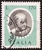 ITALY - CIRCA 1976: a stamp printed in Italy shows image of  Lorenzo Ghiberti (1378 �?�¢?? 1455)