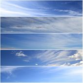 Set of horizontal sky banners