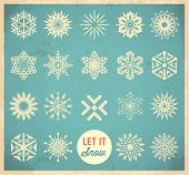 Snowflake winter set. Vector