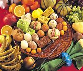 foto of bangla  - A group of Asian sweet food with fruits - JPG