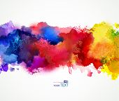 picture of dripping  - Bright watercolor stains - JPG