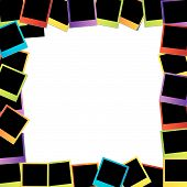 Photo frame- colorful photography elements