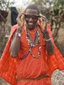 Masai With Sun Glasses