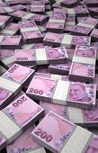 image of turkish lira  - Stack of Turkish Lira  - JPG