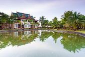 KOH KHO KHAO, THAILAND - NOV 5: Oriental architecture of Andaman Princess Resort & SPA. Hotel was destroyed by tsunami in 2004 and rebuild, Koh Kho Khao, Phang Nga in Thailand on Nov. 5, 2012.
