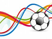 Abstract Colorful Soccer Background