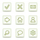 Basic web icons, white glossy buttons