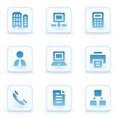 Office web icons, winter buttons