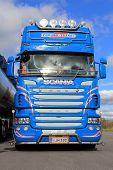 Blue Super Scania Truck