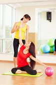 foto of zumba  - Group training in a gym of a fitness center - JPG