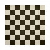 stock photo of draught-board  - Grunge chess or draughts board isolated on white background - JPG