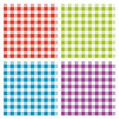 Vector Set Of Picnic Cooking Tablecloth