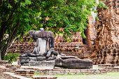 Broken buddha at Ayuttaya, Thailand