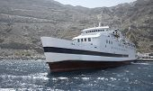 Port In Santorini's Caldera