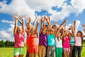 stock photo of 11 year old  - Big group of children boys and girls 8 - JPG
