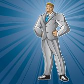 Toon Hero Business Man