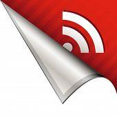 RSS feed icon on peeling corner tab