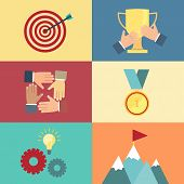 achieving goal, success concept vector