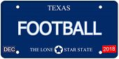 picture of texas star  - A fake imitation Texas License Plate with the word FOOTBALL and The Lone Star State making a great concept - JPG
