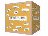 Venture Capital 3D Cube Corkboard Word Concept