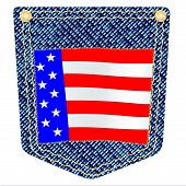 Stars And Stripes Denim Pocket