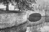Fortified Bridge Reflection In Water