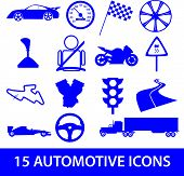 automotive icon collection eps10