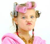 Een kind Pose gezicht.