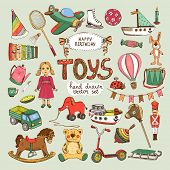 happy birthday toys set