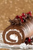 Decorated Christmas Roulade