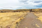 image of urn funeral  - Funerary towers in Sillustani PeruSouth America - JPG