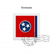 State of Tennessee flag postage stamp.