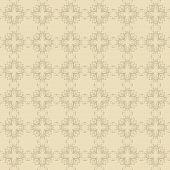 Beige Floral Wallpaper
