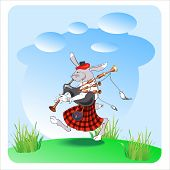 Rabbit With Bagpipes