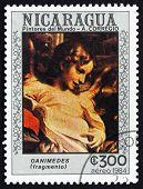 Postage Stamp Nicaragua 1984 Ganimedes, Detail