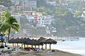 stock photo of malecon  - Morning beach and ocean in Puerto Vallarta - JPG