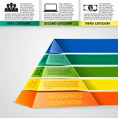 Pyramid 3d infographics