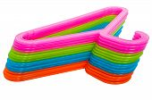 Colored Hangers Isolated On White