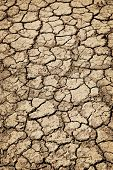 Background of dry cracked soil dirt or earth during drought