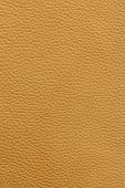 Yellow or light brown natural leather background or texture close up