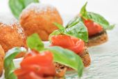 Salmon Canape With Basil