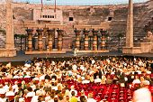 People Are Waiting For The Start Of The Opera In The Arena Of Verona